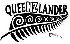 AOTEAROA NEW ZEALAND KIWI FERN QUEENSLAND QUEENZLANDER STICKER *