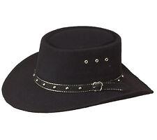 Black Cowboy Western Hat Gambler Stetson Style Mens or Ladies