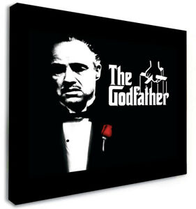 The GODFATHER PICTURE on a Box Canvas *DEEP FRAMED* ART