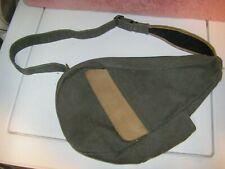 LL Bean  Ameribag Traveler Shoulder Back Sling Bag Canvas Leather