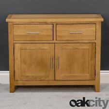 Nebraska Oak Sideboard / Small Solid Wood 2 Door Storage Cabinet & Cupboard