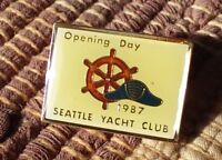 Opening Day 1987 Seattle Yacht Club pin badge