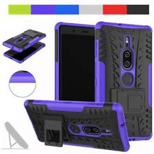 Hybrid Hard Armor Case Stand Shockproof Phone Cover For Sony Xperia XZ2 Premium