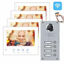 2-Draht BUS IP WLAN Video Türsprechanlage 4 Familienhaus Vierfamilienhaus