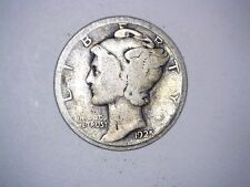 Old Original 1925 San Francisco Mint United States Silver Mercury Dime Coin