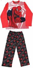 NEW Sz 7-8 Spiderman Pajamas Nightwear Shirt Pants Boys Spider Man  2 pc NWT