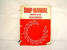 HONDA EX650 GENERATOR SHOP MANUAL (#257)