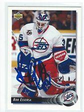 Bob Essensa Signed 1992/93 Upper Deck Card #217