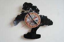 Reloj De Pared árbol Bonsai Pot Vinyl Record Dormitorio Playroom taller tienda de hobby
