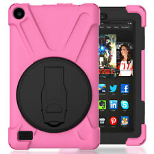 Hybrid Rugged Hard Case Stand For Amazon Kindle Fire 7 5th Gen/HD 8 6th Gen 2016