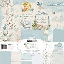 Peek-a-Boo Baby Boy Collection, 12X12 Scrapbook Paper Kit KAISERCRAFT New, PK545
