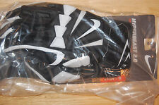 nike hyperbeast 2.0 mens adult lineman gloves football black white medium