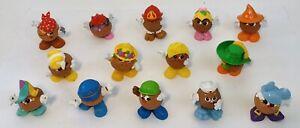 Vintage Mini Mr Potato Head Spud Kids Babies Hasbro Playskool 1980's Lot of 14