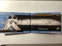2016-17 Upper Deck Premier AUTO Signature Booklets John Gibson Anaheim Ducks