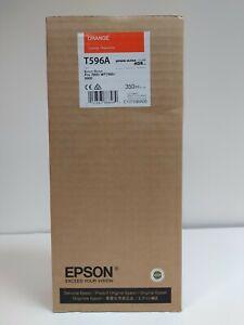 GENUINE T596A Epson Orange Ink (350ml) 7900 / 9900 EXPIRY 09-22-2018