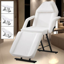 Adjustable Tattoo Salon Barber Chair Massage Table Facial Bed SPA Beauty White