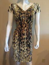 Roberto Cavalli Animal Print Stretch Dress Sz 38 US 2 New $1195