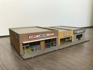 N scale Laser cut modern merchant's row Sam's Liquor
