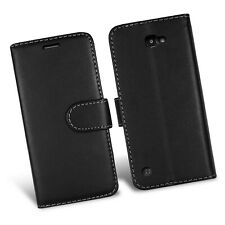 FOR LG G7 THINQ WALLET BOOK FLIP LEATHER PHONE FULL SAFE CASE COVER PLAIN BLACK