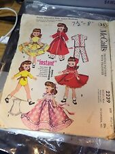 Two Used Vintage McCalls Patterns For Betsy McCall & Others -jp