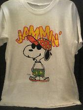 VTG 70s~SNOOPY JAMMIN AT BEACH~JOE COOL 1971~PEANUTS~T-SHIRT OFFICIALLY LICENSED