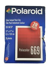 Polaroid Type 669 Film 20 Sheets Exp 10/99 Color Pack-Film New In Box