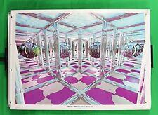 "Virtual Grid Psychedelic vintage poster 25.25"" X 35.50"" NOS (b91)"