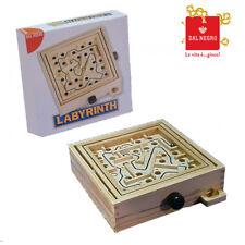 Jeu d'agilité Labyrinth Circuit en bois / Bille métallique Labyrinthe Dal Negro