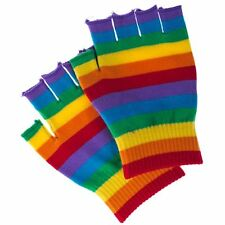 New Fingerless Rainbow Gloves Gay Pride LGBT WARMER