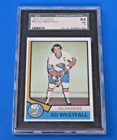 1974 TOPPS ED WESTFALL HOCKEY CARD #32 ~ SGC 84 (7) ~
