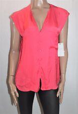 ZARA TRAFALUC Brand Red Front Pocket Blouse Top Size L BNWT #SE71