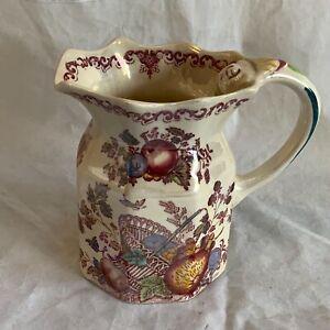 """Mason's ironstone """"Fruit basket"""" jug"""