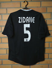 Real Madrid Away football shirt 2004-2005 #5 Zidane size S soccer jersey Adidas
