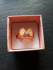 Brand new childs orange butterfly ring! UK size J.5! Kids childrens gift!
