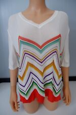 Missoni Knitted Top Size 48 Uk 14 White VGC Women's