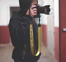 UK OFF WHITE c/o Virgil Abloh - Camera Strap DSLR Yellow Industrial Belt