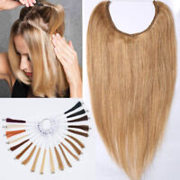 100% Remy Human Hair Halo Secret Invisible Wire Hidden Crown Hair Extension 120g