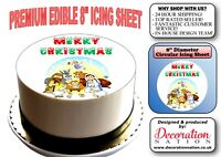 Merry Christmas - Nativity Scene 8 INCH ICING Edible Cake Topper Decoration Xmas