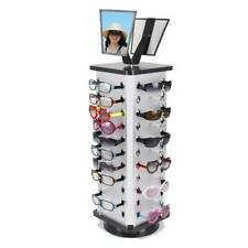 Metal Rotating Sunglass Display Rack Glasses Stand Holder W/ Mirror for 44 Pairs