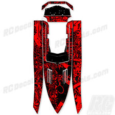 "PRO BOAT SHOCKWAVE 36 ""Graffiti"" GRAPHICS FITS OEM HULL PARTS DECAL WRAP KIT"