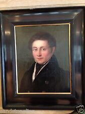 Framed Antique Oil Fine Painting MENDELSSOHN German Frame Restored 18th Century