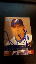 2003 Upper Deck #512 Luis Ayala Montreal Expos Rookie Baseball Card AUTOGRAPHED