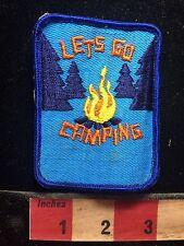 VTG circa 1970s/80s lass Camping Camp Patch sich von alten Jacke S75E