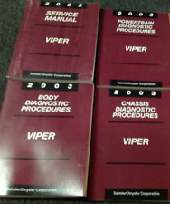 2003 DODGE VIPER MODELS Service Shop Repair Manual Set W Diagnostics OEM