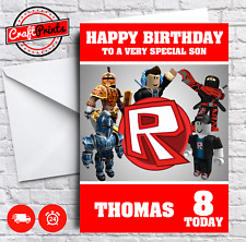 Roblox Personalised Birthday Card - SON, BROTHER, SISTER, GRANDSON ETC