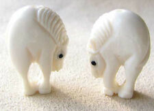 CHARMING PONY Carved HORSE WaterBuffalo Bone BEAD 004116B