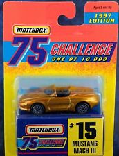 Matchbox MB 15 Mustang Mach III Gold 75 Challenge 1997 Mint On Card