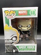 FUNKO POP! - Marvel Universe #18 - Ghost Rider - Vaulted Retired - Very Good Box