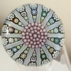 Vintage Scottish Perthshire Paperweights P Cane Millefiori Glass Paperweight