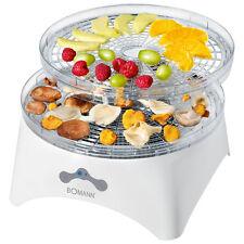 Bomann DR 448 - Deshidratador alimentos 2 niveles temperatura 5 bandejas, 300 W